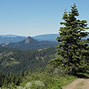 July 4, 2013.  Pilot Rock from Soda Mtn. NABA Butterfly Count.  Cascade-Siskiyou NM, Oregon.