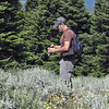 July 4, 2013.  Photographing butterflies. NABA Butterfly Count.  Cascade-Siskiyou NM, Oregon.