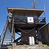 July 4, 2013.  Soda Mt. lookout Tower. NABA Butterfly Count.  Cascade-Siskiyou NM, Oregon.