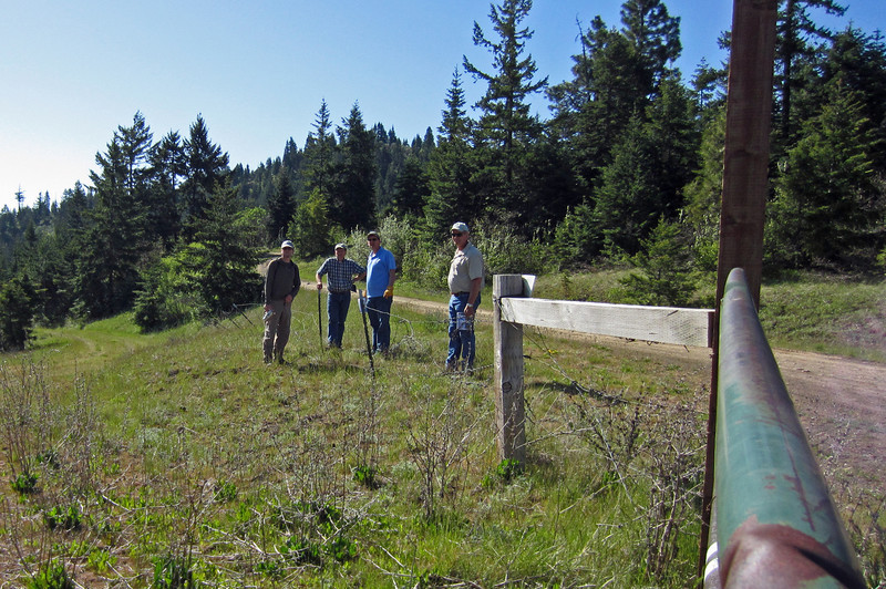 On the edge of the Marshall Cole property, under easement with the Southern Oregon Land Conservancy.
