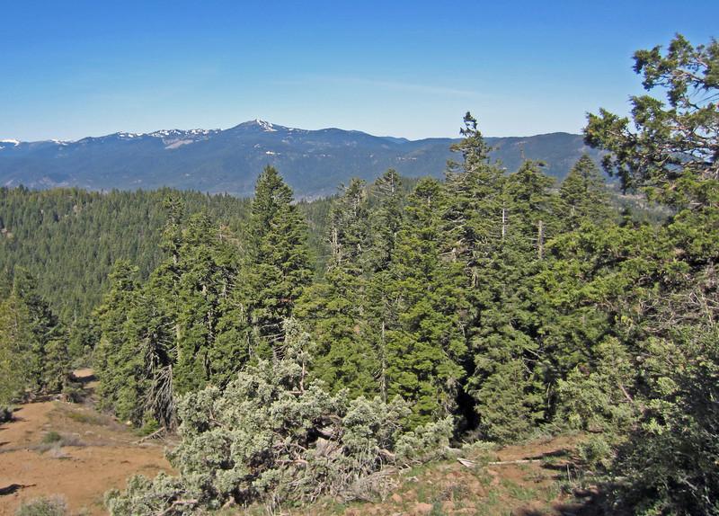 April 13, 2014.  Mt. Ashland from Pilot Rock, Cascade-Siskiyou NM, Oregon.