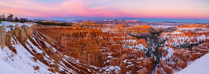 Bryce Sunset Panorama - Bryce Canyon National Park