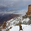 Snow Covered Desert View - Grand Canyon National Park