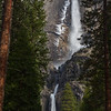 Ice Crusted Yosemite Falls - Yosemite National Park