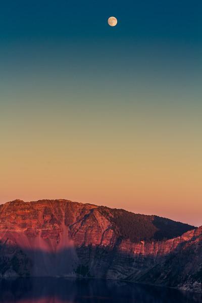 Crater Lake Moonrise - Crater Lake National Park