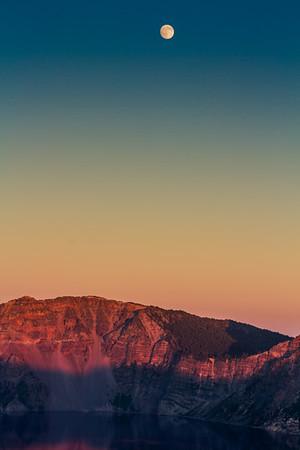 Crater Lake Moonrise