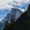 Snow laden Half Dome - Yosemite National Park