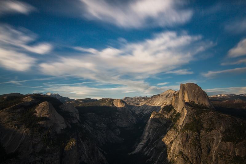 Golden Light from Glacier Point - Yosemite National Park