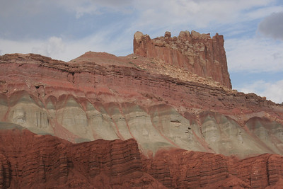 Capitol Reef is a National Park in Utah: lots of red rock and few visitors make this an ideal stop.