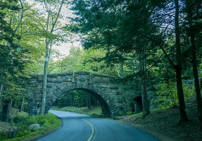 one of many old stone bridges