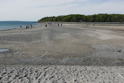 the sand bar at low tide