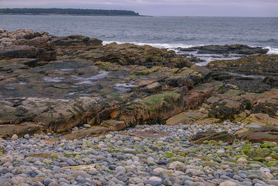 "these granite rocks is the area known as the seawall, on the ""quiet"" side of the park."