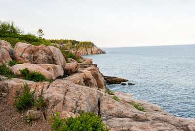 granite cliffs outside of Seal Harbor, these extend out from a summer cottage owned by Martha Stewart.