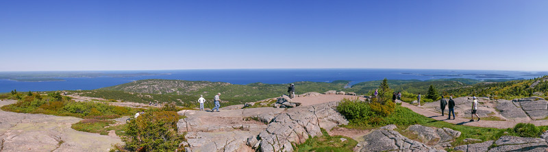 view from on top of tallest mnt. in Acadia NP, Cadillac Mnt.