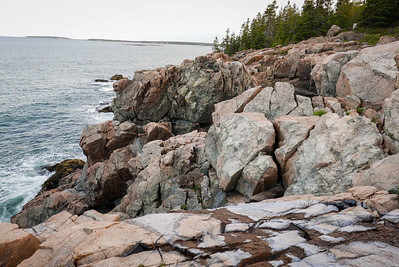 these granite cliffs are massive and all around Acadia NP