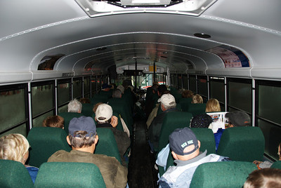 A converted school bus was our mode of transportation
