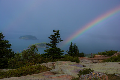 Rainbow on Cadillac Mountain