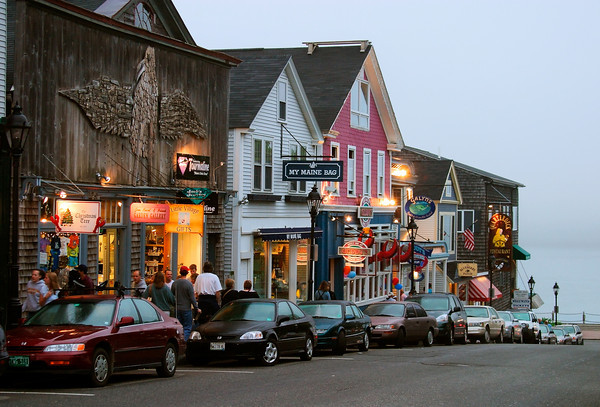 Main Street in Downtown Bar Harbor, Maine