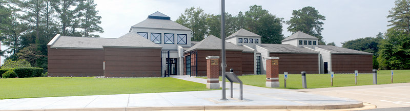 This is the front of the visitor's center.  This image was created from multiple images and is now a 25 megapixel image.  It will take some time to download if you choose to view it in full size.