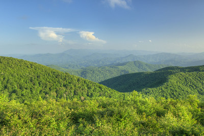 The view from the Unaka Mountain Overlook near the summit of Unaka Mountain in Erwin, TN on Saturday, June 13, 2015. Copyright 2015 Jason Barnette