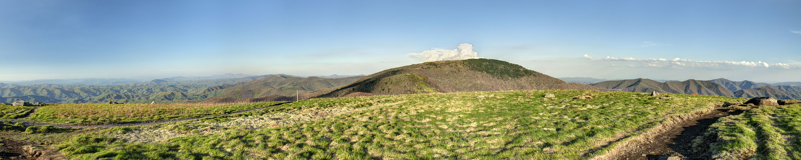 The view from the top of Round Bald on the Appalachian Trail in TN on Wednesday, May 15, 2013. Copyright 2013 Jason Barnette