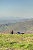 A couple enjoy a picnic on the summit of Round Bald on the Appalachian Trail in TN on Wednesday, May 15, 2013. Copyright 2013 Jason Barnette