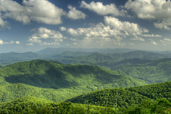 The view from the Beauty Spot on Unaka Mountain in Erwin, TN on Saturday, June 13, 2015. Copyright 2015 Jason Barnette  The Beauty Spot is located at Mile 350.5 on the Appalachian Trail in Tennessee.