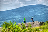 A couple of people stand atop Echo Rock near Mile 489 on the Appalachian Trail in VA on Monday, July 30, 2012. Copyright 2012 Jason Barnette