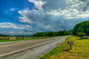 A heavy summer thunderstorm approaches across Highway 600 near Elk Garden at Mile 486.8 on the Appalachian Trail in VA on Monday, July 30, 2012. Copyright 2012 Jason Barnette