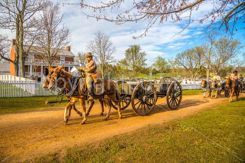 Appomattox Court House Nat'l Historic Park, VA, on 150th Anniversary of surrender - C1--0042 - 72 ppi