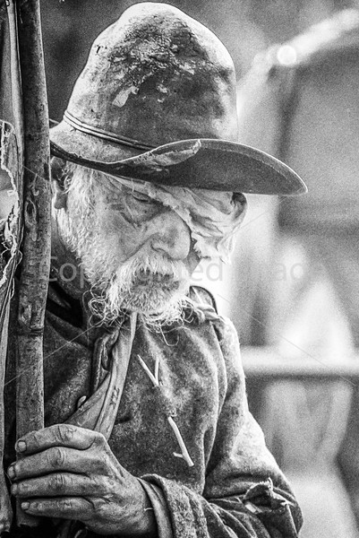 Old Confederate soldier at Appomattox Court House, Virginia - Surrender Day 2015 -3 - 72 ppi