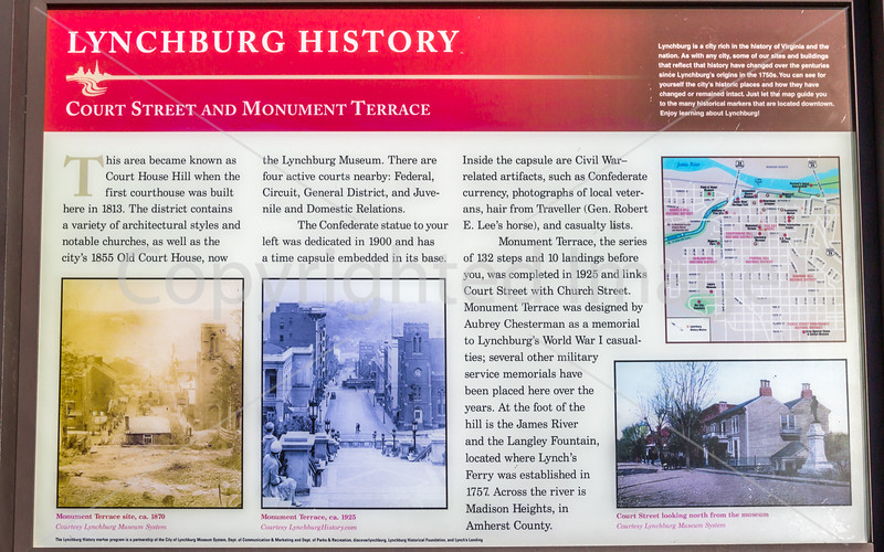 Historical placard in Lynchburg, Virginia - C1--0237 - 72 ppi