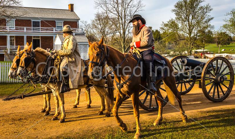 Appomattox Court House Nat'l Historic Park, VA, on 150th Anniversary of surrender - C1--0047 - 72 ppi