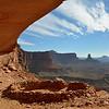 Lisa looking out at canyon from False Kiva