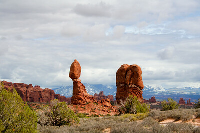 Balanced Rock, Arches National Park, Utah in September 2006.