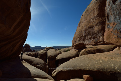 View while hiking in the Fiery Furnace