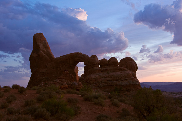 Sunset at Turret Arch, Arches National Park, Moab, Utah