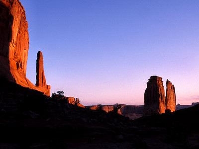 The large rock formation is call the Organ, Arches NP.