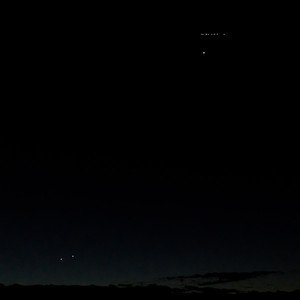 ISS over venus