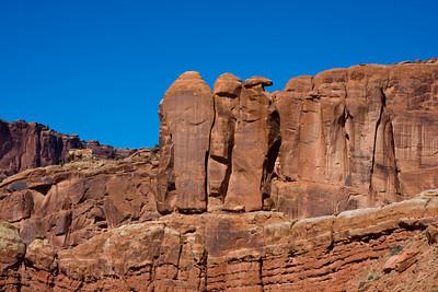 Three Penguins, Arches National Park, Moab, Utah