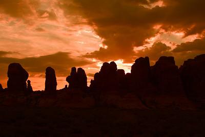 Windows Sunrise, Arches National Park, Moab, Utah