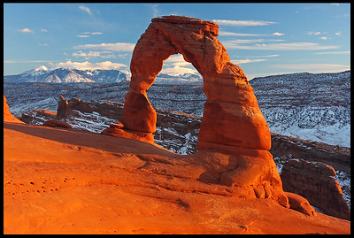Delicate Arch, sunset