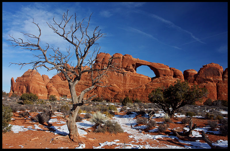 Skyline Arch in winter