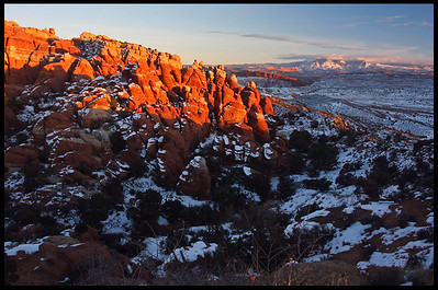 Fiery Furnace, winter sunset