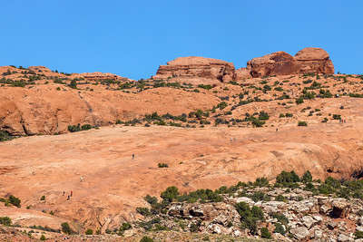 The Long Ascent To Delicate Arch