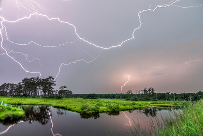 Lightning at Assateague Island National Seashore