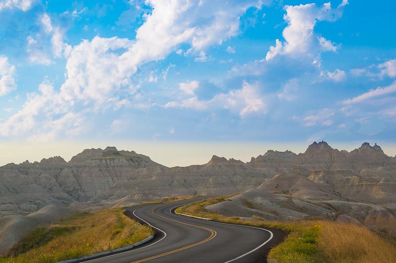 Road through Saddle Pass