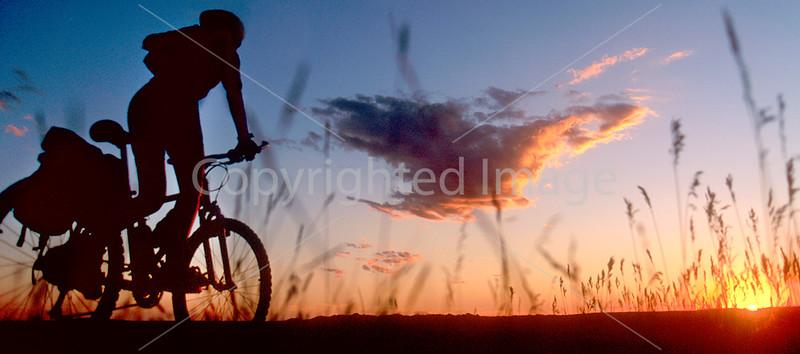 Cyclist at Badlands National Park in South Dakota - 17 - 72 ppi
