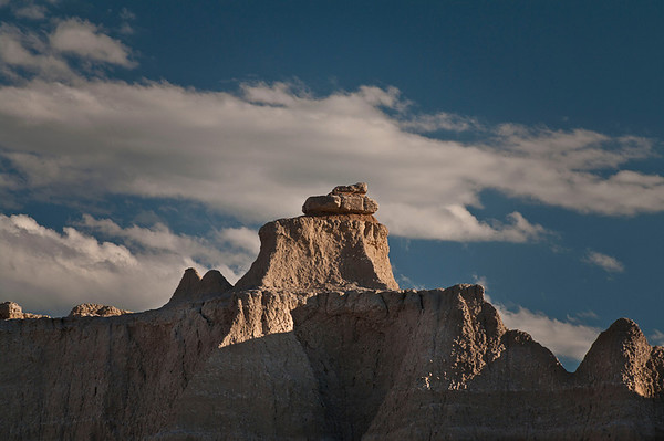 Eroded buttes with its pinnacles and spires.