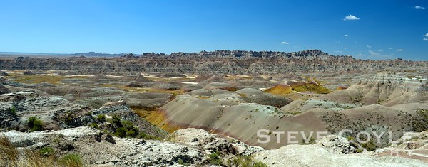Panorama looking across the Badlands.